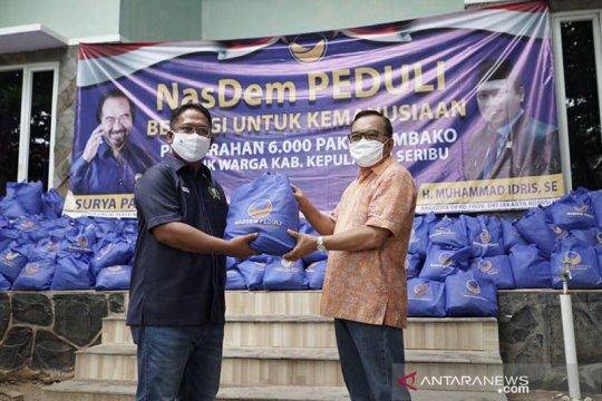 NasDem salurkan 6.000 paket sembako kepada warga Kepulauan Seribu