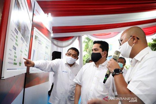 Menteri BUMN tinjau laboratorium Biomolekuler PCR RS PHC Surabaya