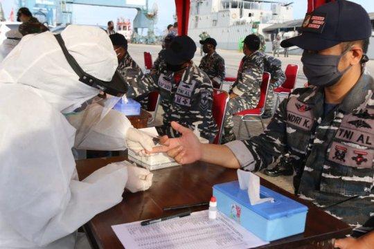 KRI Teluk Lampung-540 sandar di Palembang, 62 ABK langsung rapid test