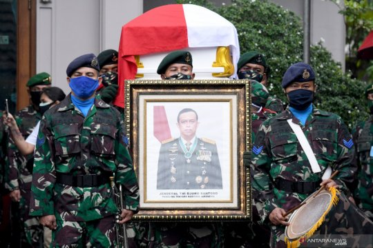 Pelepasan jenazah Jenderal TNI Purn Djoko Santoso