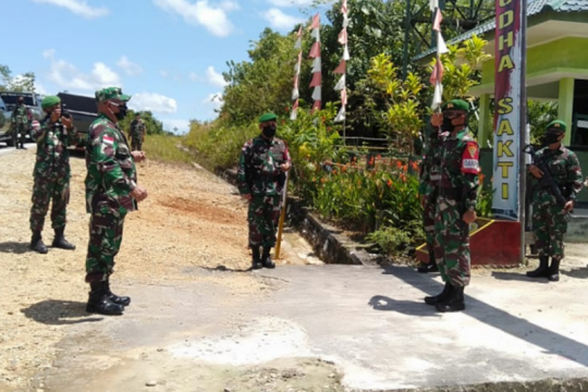 Sambut HUT di perbatasan RI-Malaysia, satgas TNI gelar aneka lomba