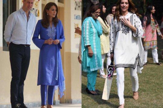Inspirasi gaya Idul Fitri, shalwar kameez ala Kate Middleton