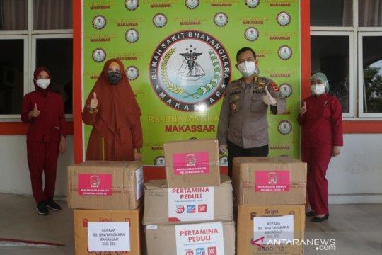 Pertamina-Bhayangkari bantu APD untuk RS Bhayangkara
