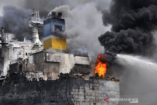 Korban jiwa akibat kebakaran kapal di Belawan menjadi lima orang