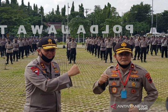 Jajaran Polda Jawa Tengah lepas Irjen Polisi Rycko Amelza Dahniel