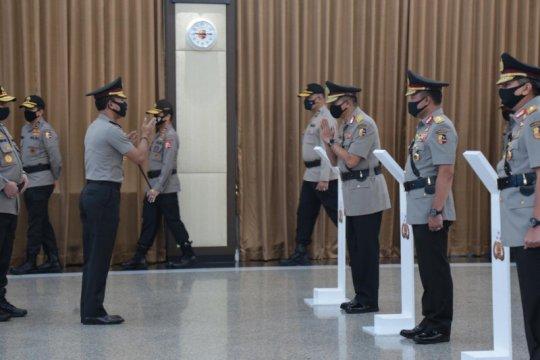 Pelaksanaan sertijab eks Kapolda Bengkulu sesuai protokol kesehatan