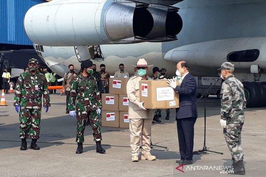 Menhan Prabowo kembali terima bantuan alat kesehatan dari China
