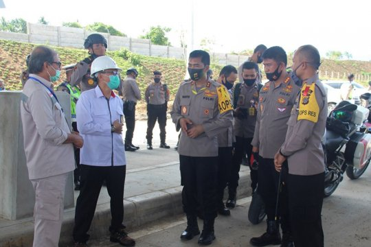 Kapolda Aceh pantau pembangunan jalan tol Banda Aceh-Sigli