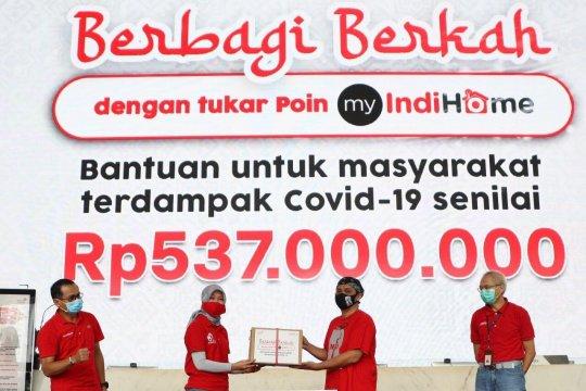 Ajak pelanggan berdonasi, Indihome salurkan paket sembako Rp537 juta