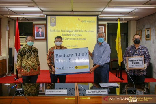 UI terima bantuan 1.000 paket sembako dari Bank Mayapada