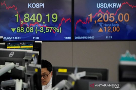 Saham Korsel balik merosot, Indeks KOSPI kehilangan 0,67 persen