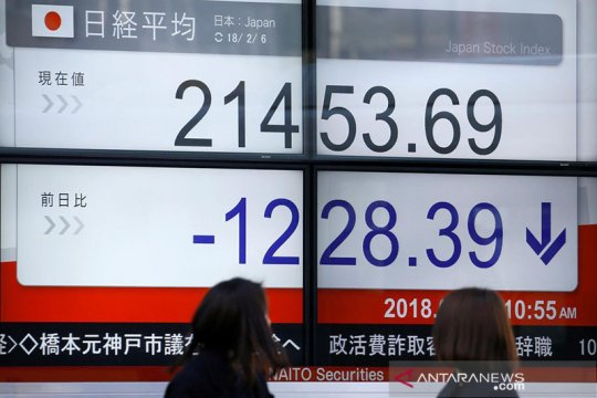 Saham Tokyo ditutup tergelincir, Indeks Nikkei kehilangan 104,09 poin