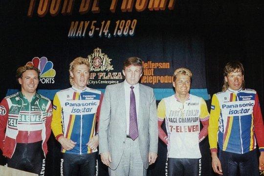 Trump pernah berambisi saingi Tour de France tapi tak kesampaian