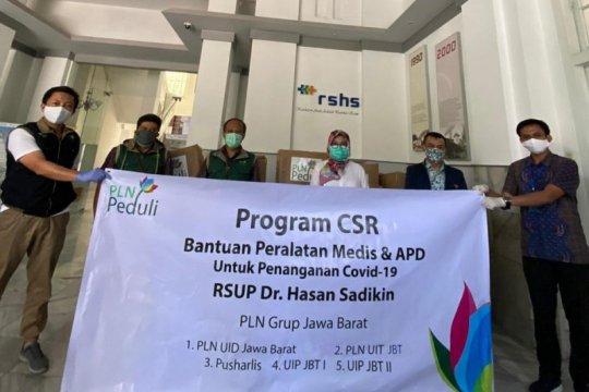 PLN Grup Wilayah Jabar salurkan bantuan APD ke RSHS Bandung