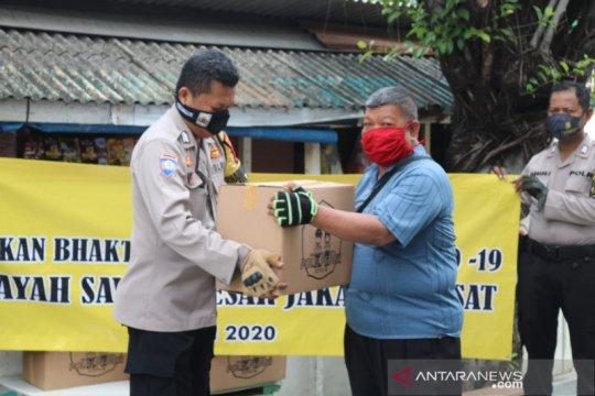 Polsek Sawah Besar gandeng napi asimilasi distribusikan bantuan sosial