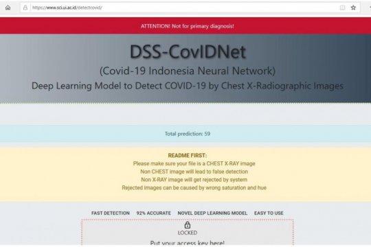 UI kembangkan alat deteksi pneunomia akibat COVID-19