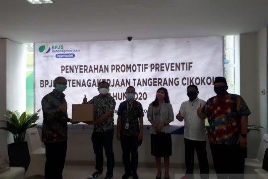 BPJAMSOSTEK Banten bantu perusahaan laksanakan K3 cegah COVID-19