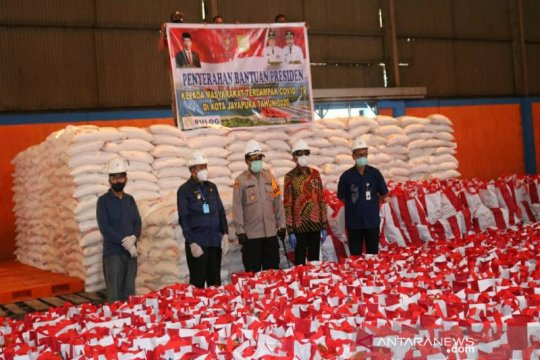 Kota Jayapura terima 5.000 paket bantuan  Presiden Jokowi