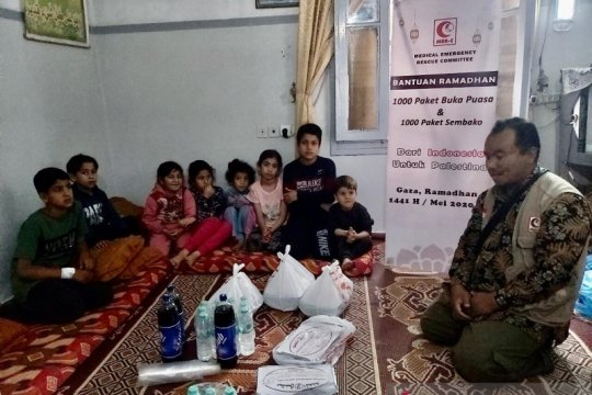 Gema Indonesia saat Ramadhan di Jalur Gaza