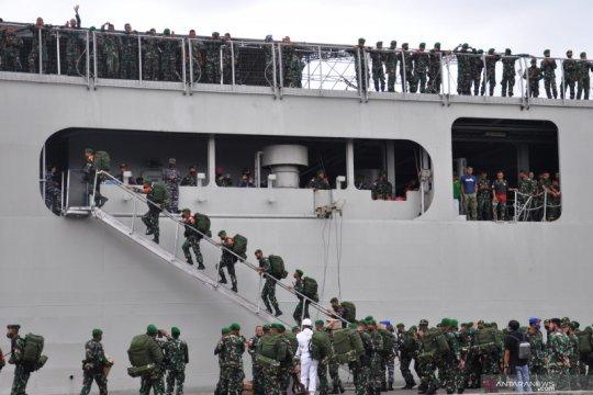 Pelepasan pasukan penjaga perbatasan RI - PNG