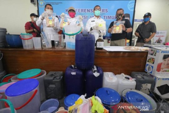 BNNP Jatim ungkap sindikat narkoba libatkan pemain sepak bola