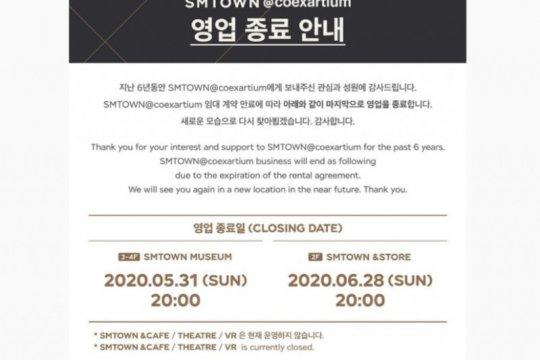 SM Entertainment umumkan penutupan SMTOWN Coex Artium