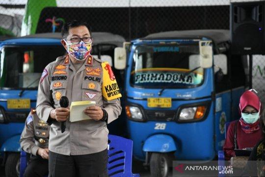 Polda Metro Jaya telah gunakan Rp24,1 miliar bantu sopir angkutan umum