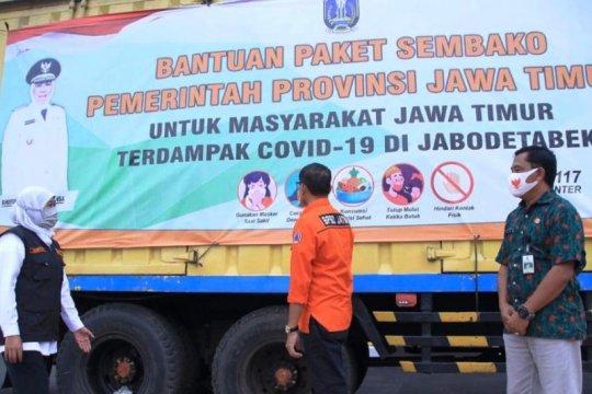 Pemprov kirim bantuan warga Jatim di Jabodetabek terdampak COVID-19