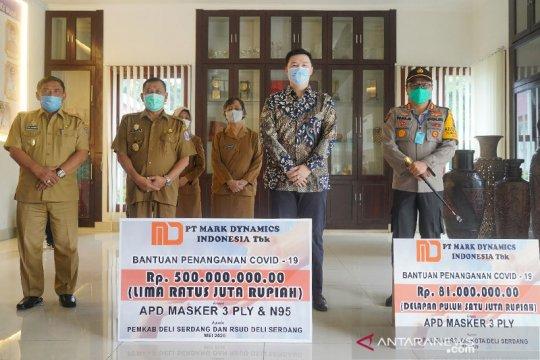 Emiten produsen cetakan sarung tangan ini donasikan masker Rp1 miliar