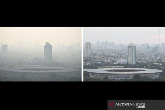 Begini penampakan kualitas udara Jakarta sebelum dan saat pandemi COVID-19