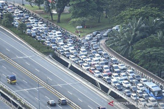 Kepadatan kendaraan di Jakarta saat PSBB