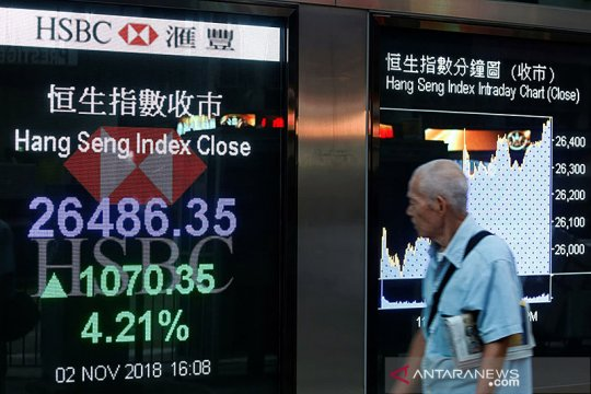 Saham Hong Kong dibuka menguat, Indeks Hang Seng naik 0,19 persen