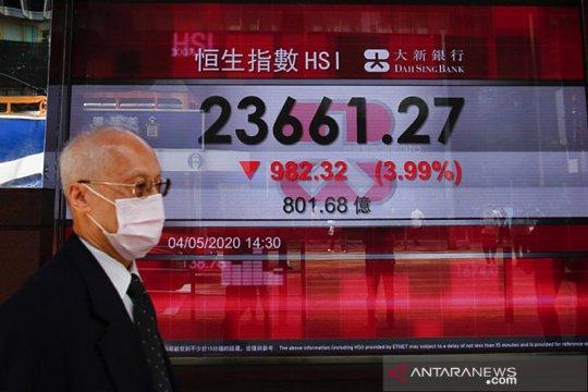 Saham Hong Kong ditutup lebih rendah, indeks HSI tergerus 0,32 persen