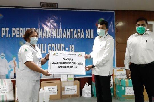 Tiga provinsi di Kalimantan dapat bantuan APD kesehatan dari PTPN XIII
