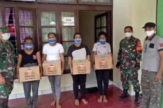 Koramil Jagakarsa salurkan sembako untuk mahasiswa Papua