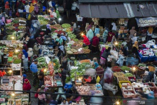 Kepadatan pasar di Bandung