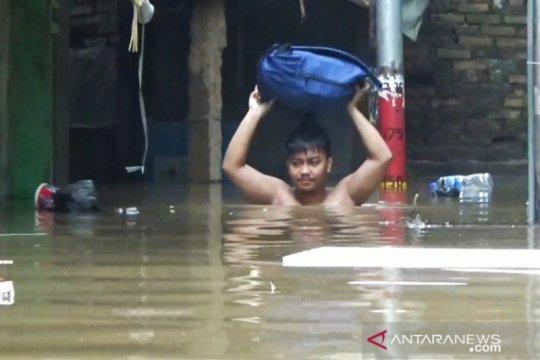 Rumah penduduk di Kebon Pala kembali terendam banjir