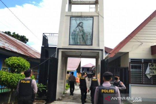 Polres Bengkulu sosialisasikan pencegahan COVID-19 di gereja