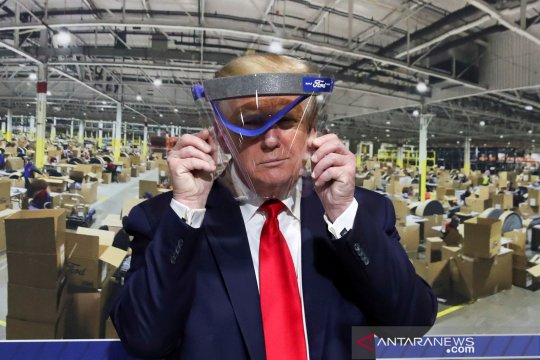 Trump kunjungi pabrik Ford yang produksi alat kesehatan guna atasi COVID-19