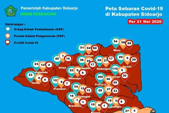 Pasien positif COVID di Sidoarjo bertambah 57 orang, total 386 orang