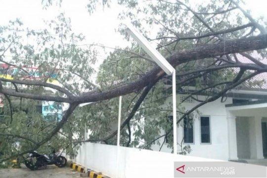 Palembang dihantam angin kencang berkecepatan 72 kilometer per jam