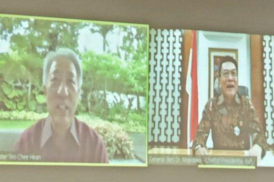 Tangani COVID-19, Moeldoko dialog dengan Menteri Senior Singapura