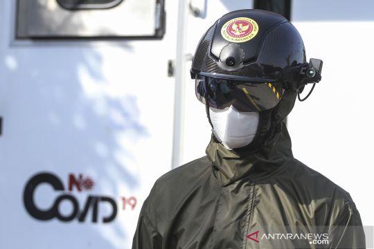 Helm pendeteksi suhu tubuh
