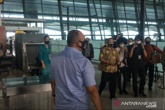 Satgas COVID-19 DPR lakukan pengecekan prosedur di Bandara Soetta
