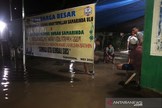 Kota Samarinda dikepung banjir di malam Lebaran