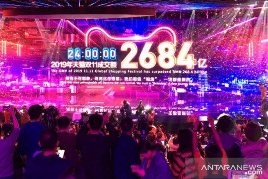 Alibaba raih nilai total penjualan barang 1 triliun dolar