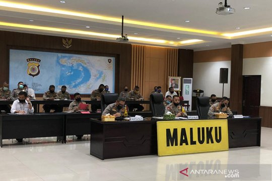 Kapolda Maluku koordinasikan pengamanan takbiran dan Shalat Idul Fitri