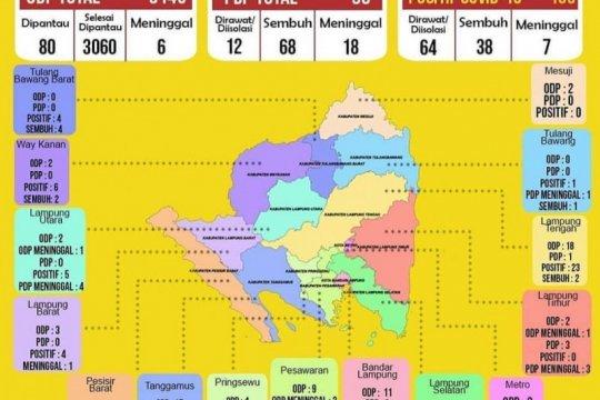 Pasien sembuh COVID-19 bertambah dua di Lampung