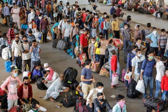 Kasus corona di India meningkat saat jutaan orang pulang kampung
