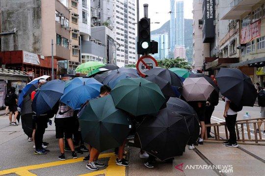 Demonstran Hong Kong gelar aksi bungkam menentang UU keamanan nasional